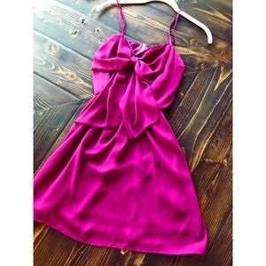 Hot Pink Bow Dress